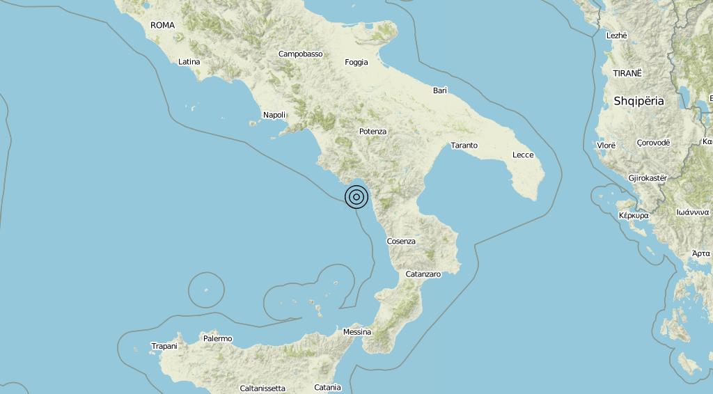 Terremoto Calabria 30-05-2019