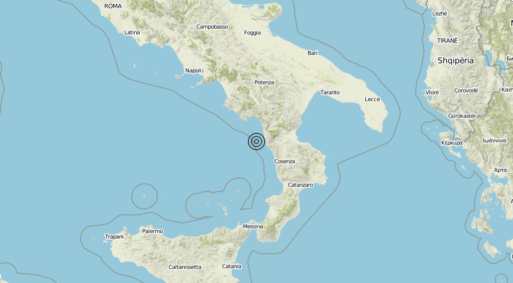 Terremoto Calabria 12-06-2019