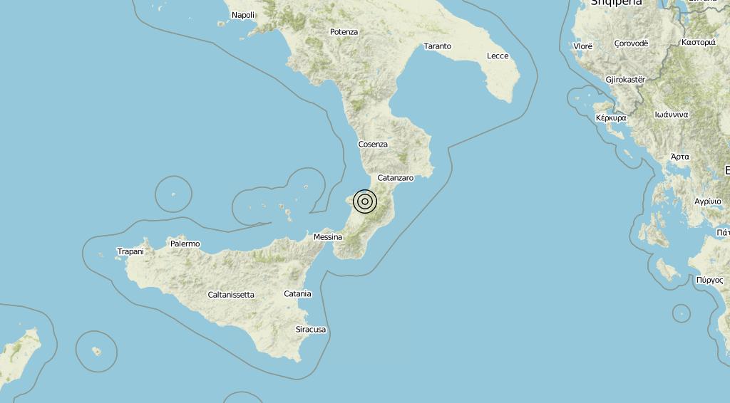 Terremoto Calabria 14-06-2019