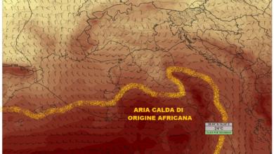 appa temperatura 850 hpa gfs italia calabria 2 agosto 2019