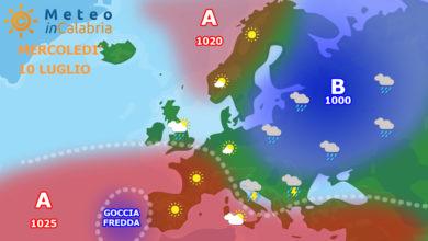sinottica meteo calabria europa