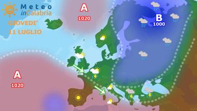 sinottica meteo europa calabria