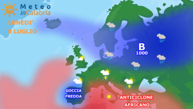 sinottica meteo in calabria europa