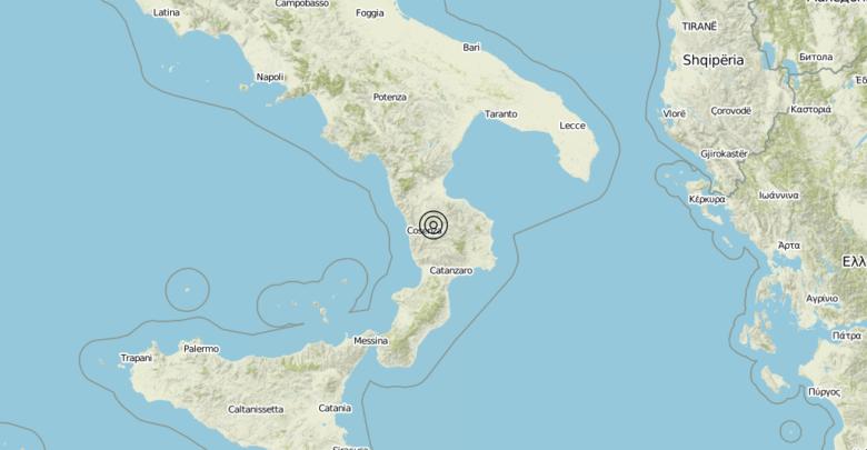 Terremoto Calabria 12-07-2019