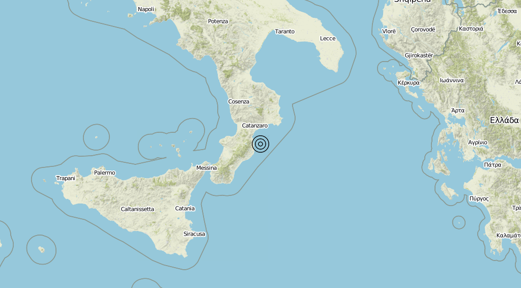 Terremoto Calabria 16-07-2019