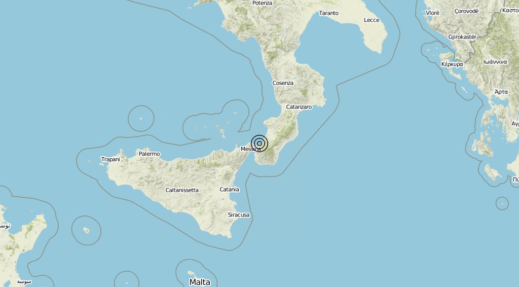 Terremoto Calabria 18-07-2019