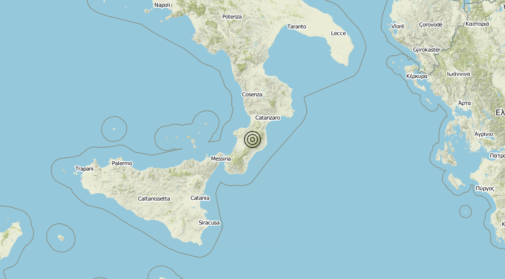 Terremoto Calabria 26-07-2019