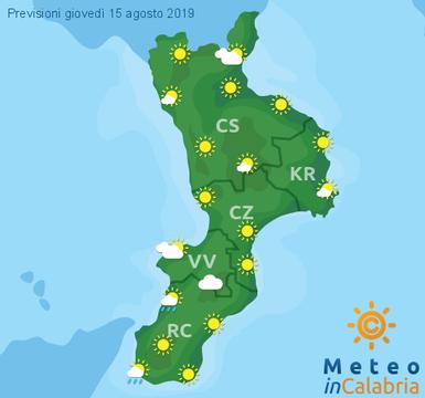 Previsioni Meteo Calabria 15-08-2019