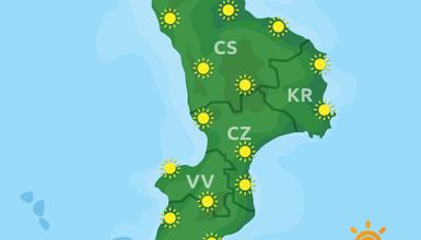 Previsioni Meteo Calabria 19-08-2019