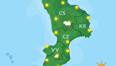 Previsioni Meteo Calabria 21-08-2019