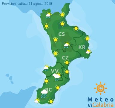 Previsioni Meteo Calabria 31-08-2019