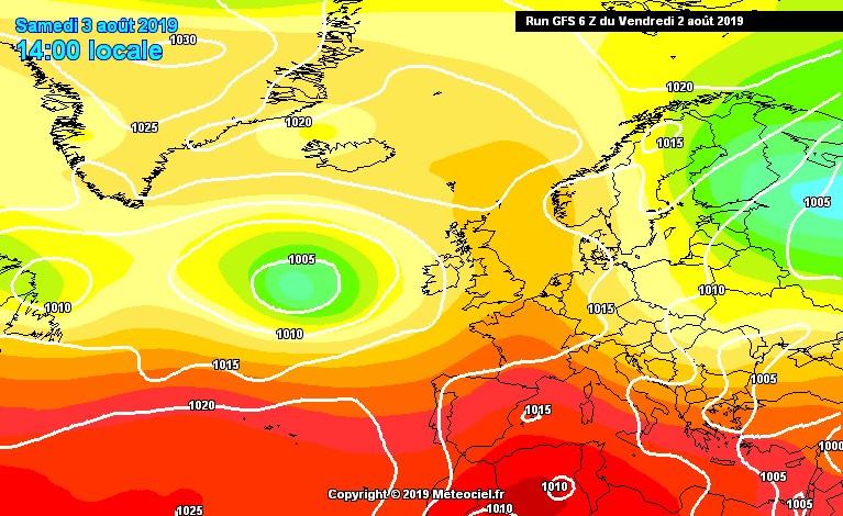 Graduale calo termico sui settori tirrenici della Calabria