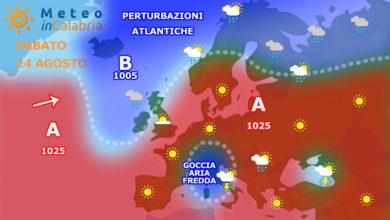sinottica europa calabria sabato 24 agosto 2019