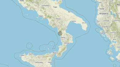 Terremoto Calabria 01-08-2019