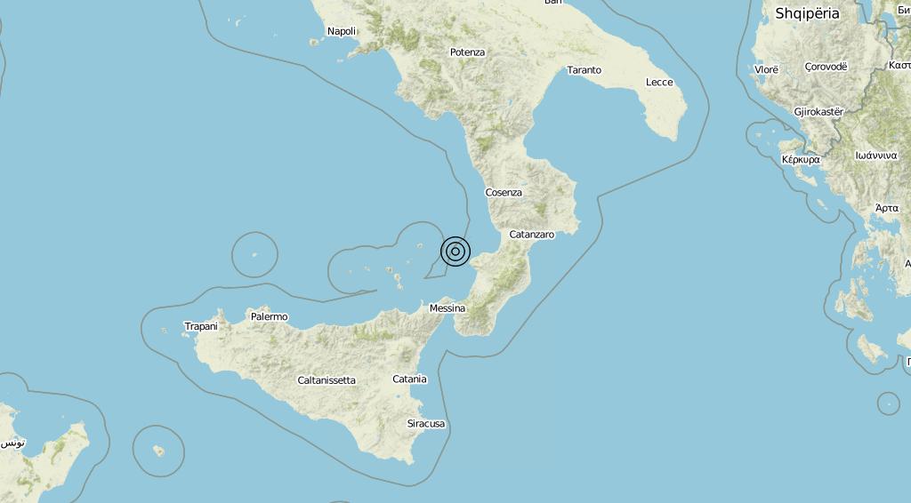 Terremoto Calabria 02-08-2019