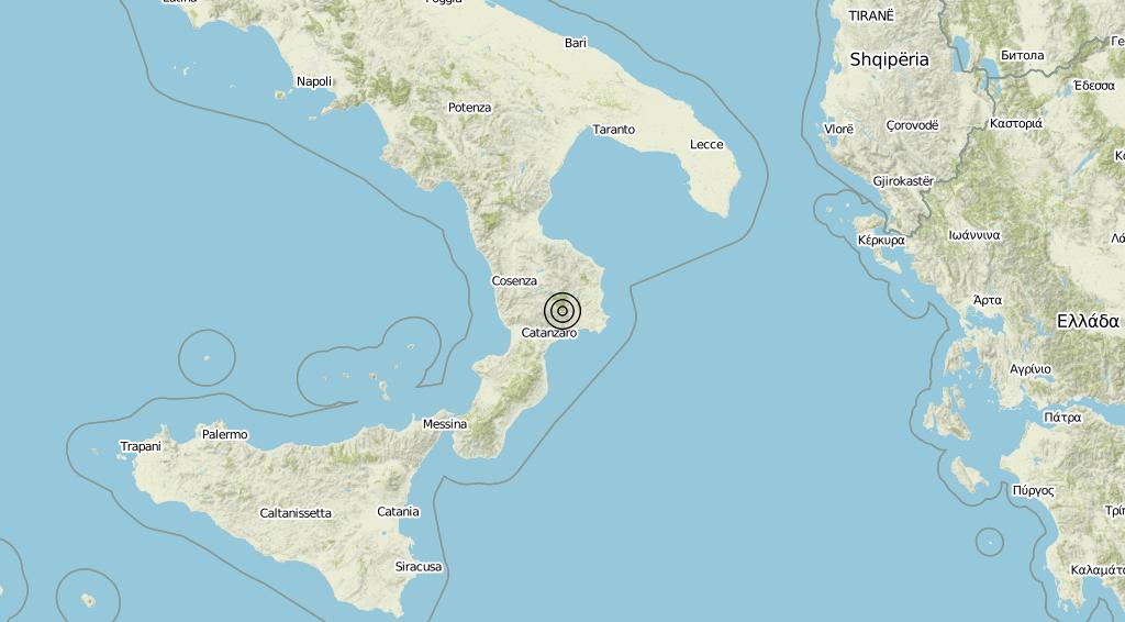Terremoto Calabria 03-08-2019