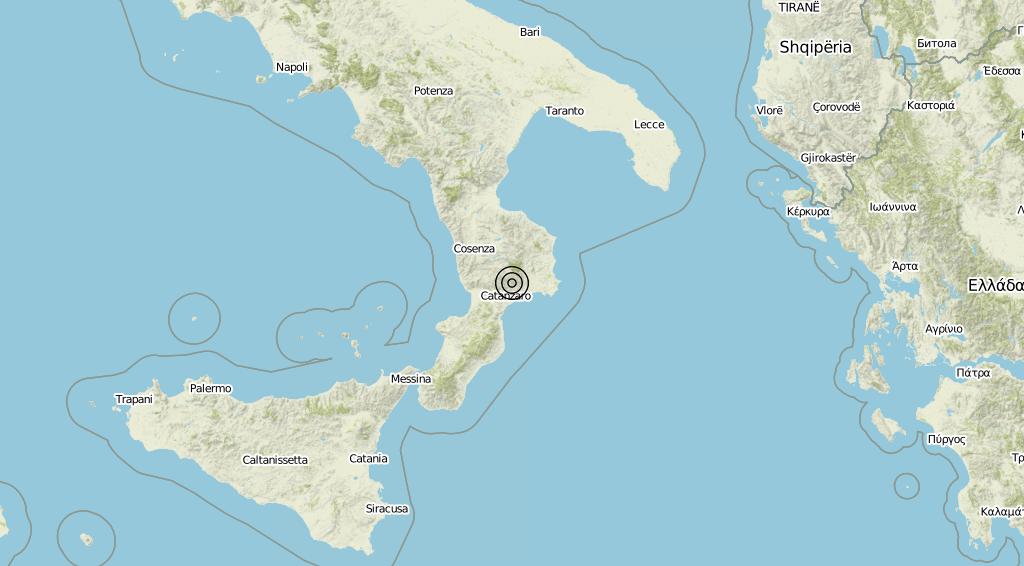 Terremoto Calabria 04-08-2019