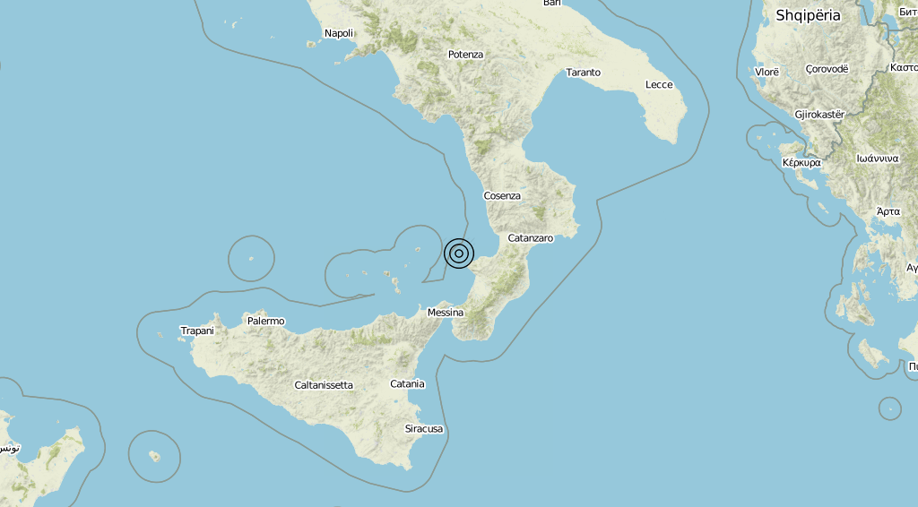 Terremoto Calabria 05-08-2019