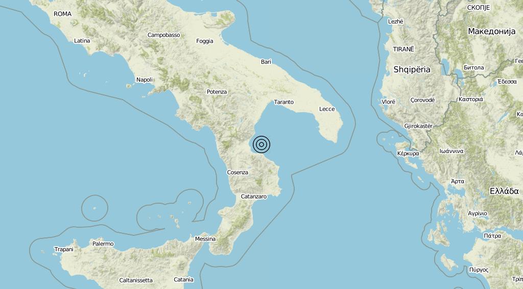 Terremoto Calabria 15-08-2019