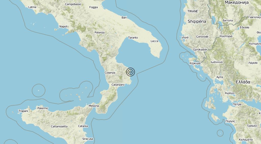 Terremoto Calabria 22-08-2019