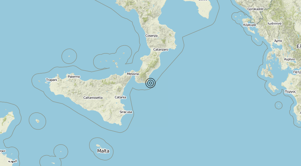 Terremoto Calabria 23-08-2019