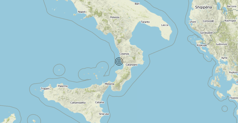 Terremoto Calabria 27-08-2019