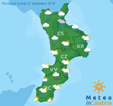 Previsioni Meteo Calabria 02-09-2019