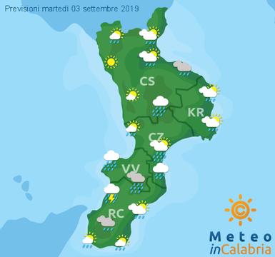 Previsioni Meteo Calabria 03-09-2019