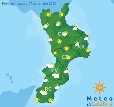 Previsioni Meteo Calabria 07-09-2019