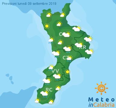 Previsioni Meteo Calabria 09-09-2019