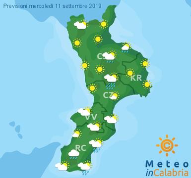 Previsioni Meteo Calabria 11-09-2019
