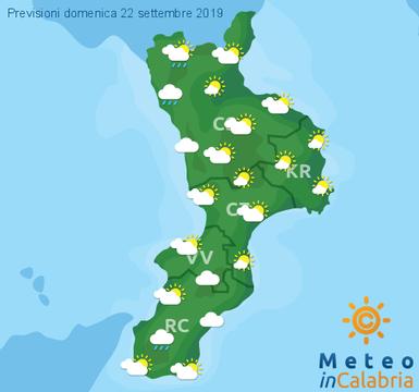 Previsioni Meteo Calabria 22-09-2019