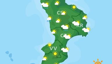 Previsioni Meteo Calabria 23-09-2019