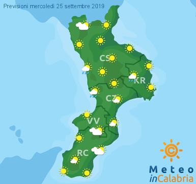 Previsioni Meteo Calabria 25-09-2019