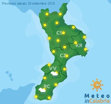 Previsioni Meteo Calabria 28-09-2019