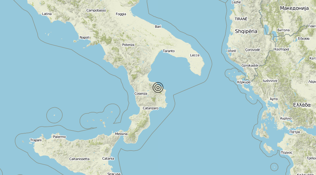Terremoto Calabria 03-09-2019