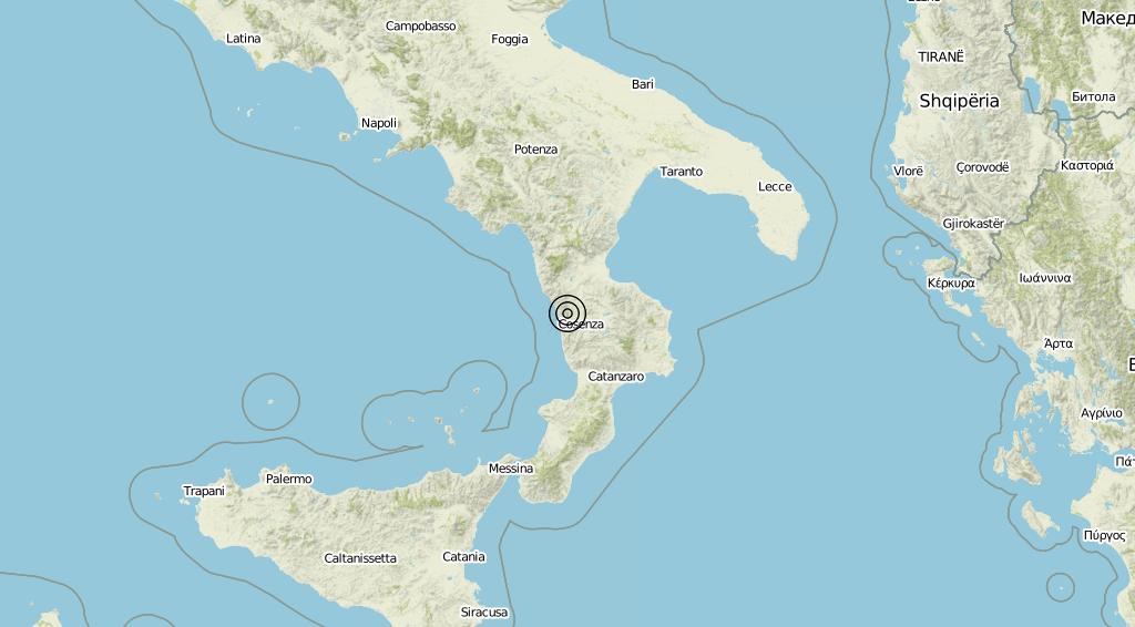 Terremoto Calabria 06-09-2019