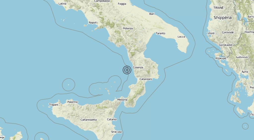 Terremoto Calabria 08-09-2019
