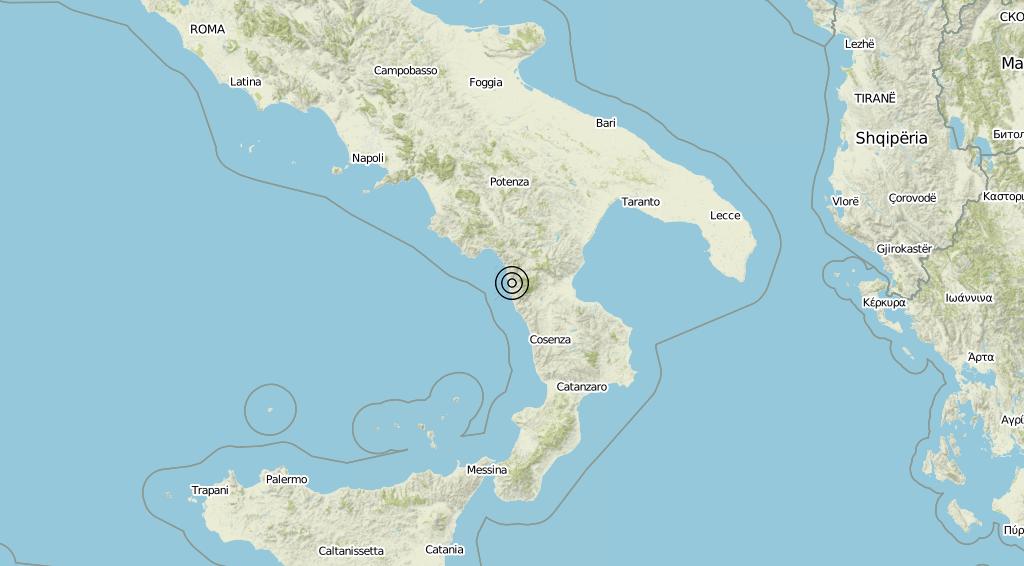 Terremoto Calabria 16-09-2019