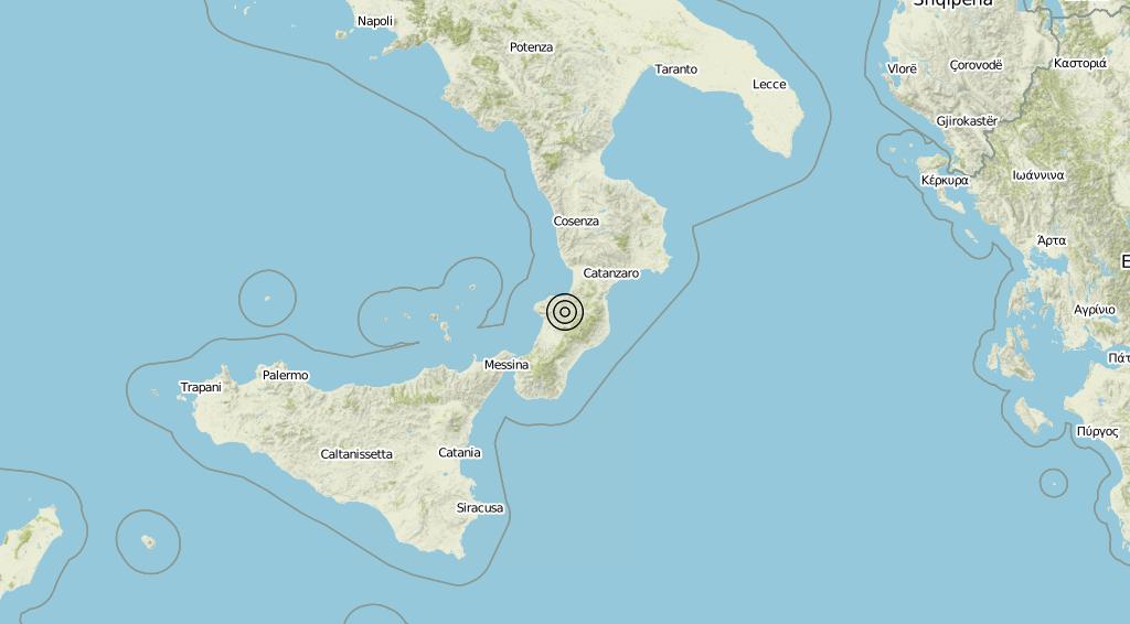Terremoto Calabria 24-09-2019