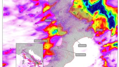 mappa piogge previste calabria wrf 7 ottobre 2019