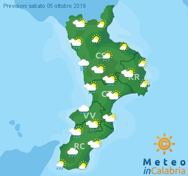 Previsioni Meteo Calabria 05-10-2019