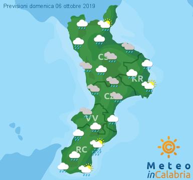 Previsioni Meteo Calabria 06-10-2019