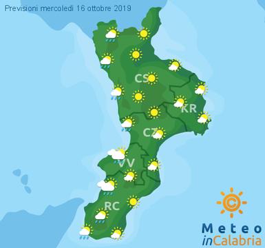 Previsioni Meteo Calabria 16-10-2019