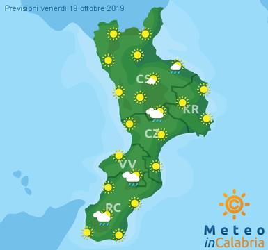 Previsioni Meteo Calabria 18-10-2019