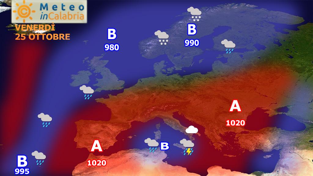 Peggioramento del tempo sulla Calabria meridionale