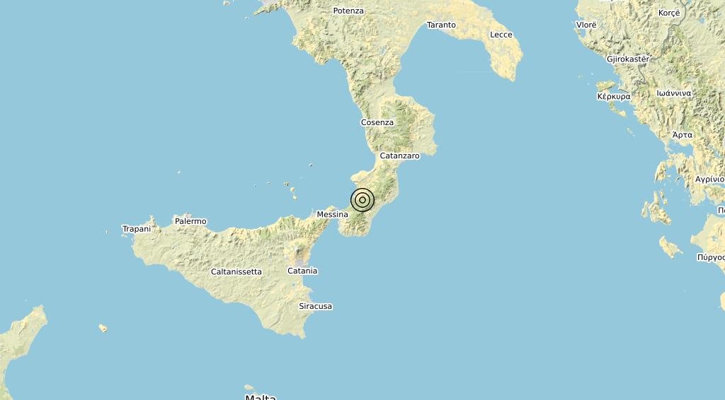 Terremoto Calabria 01-10-2019
