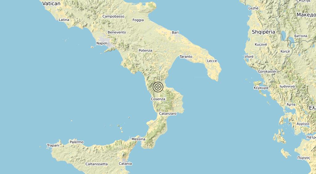 Terremoto Calabria 02-10-2019