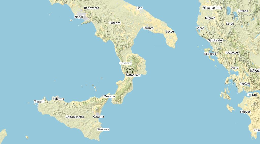 Terremoto Calabria 07-10-2019