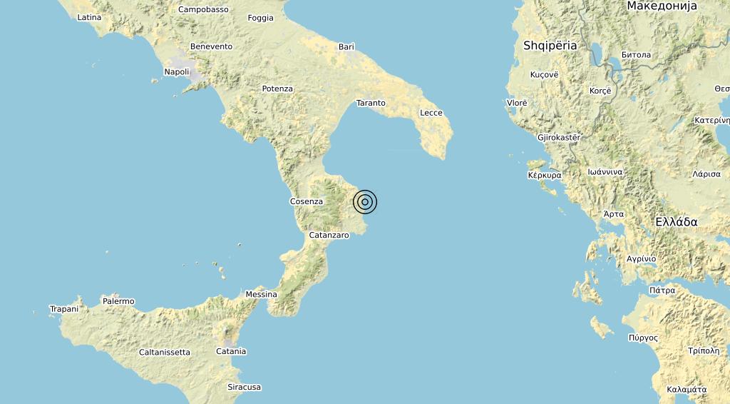 Terremoto Calabria 15-10-2019
